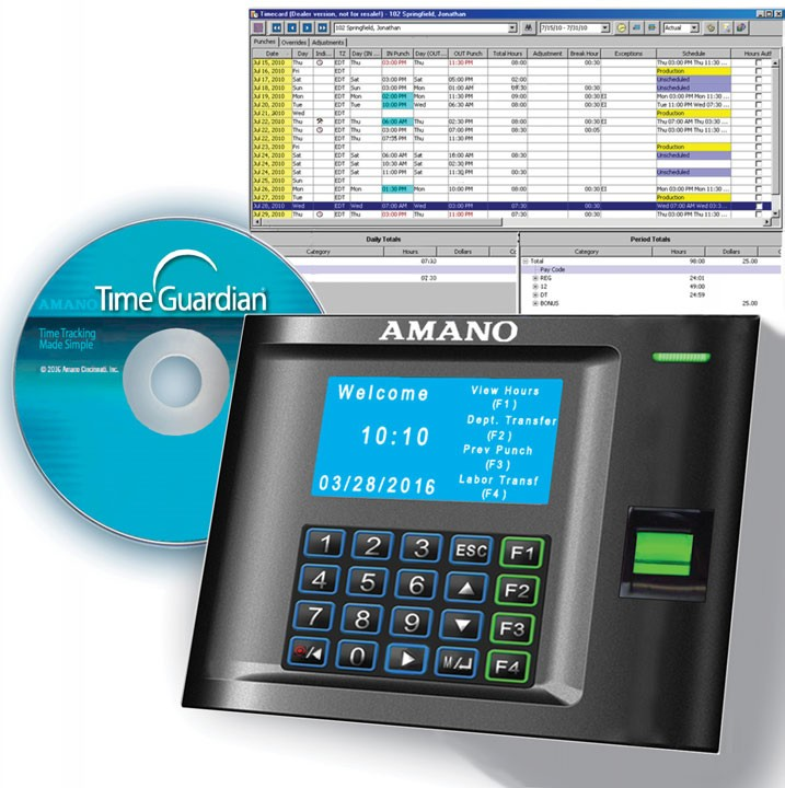 Amano MTX-30F/A969 MTX-30 Biometric Fingerprint Time Clock
