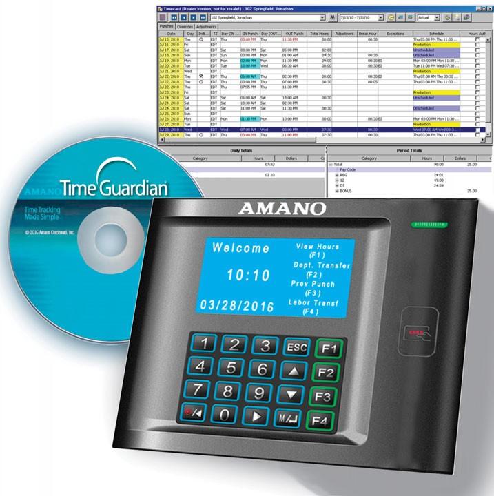 Amano MTX-30P/A972 MTX-30 Proxmity Time Clock