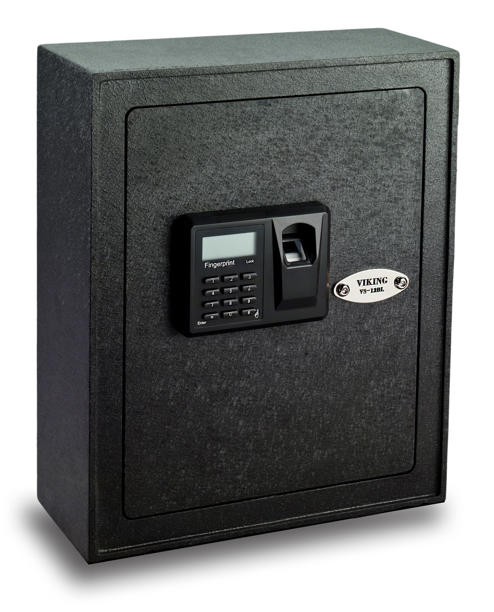 Viking Security Safe VS-12BL Small Wall Biometric Fingerprint LCD Keypad Safe