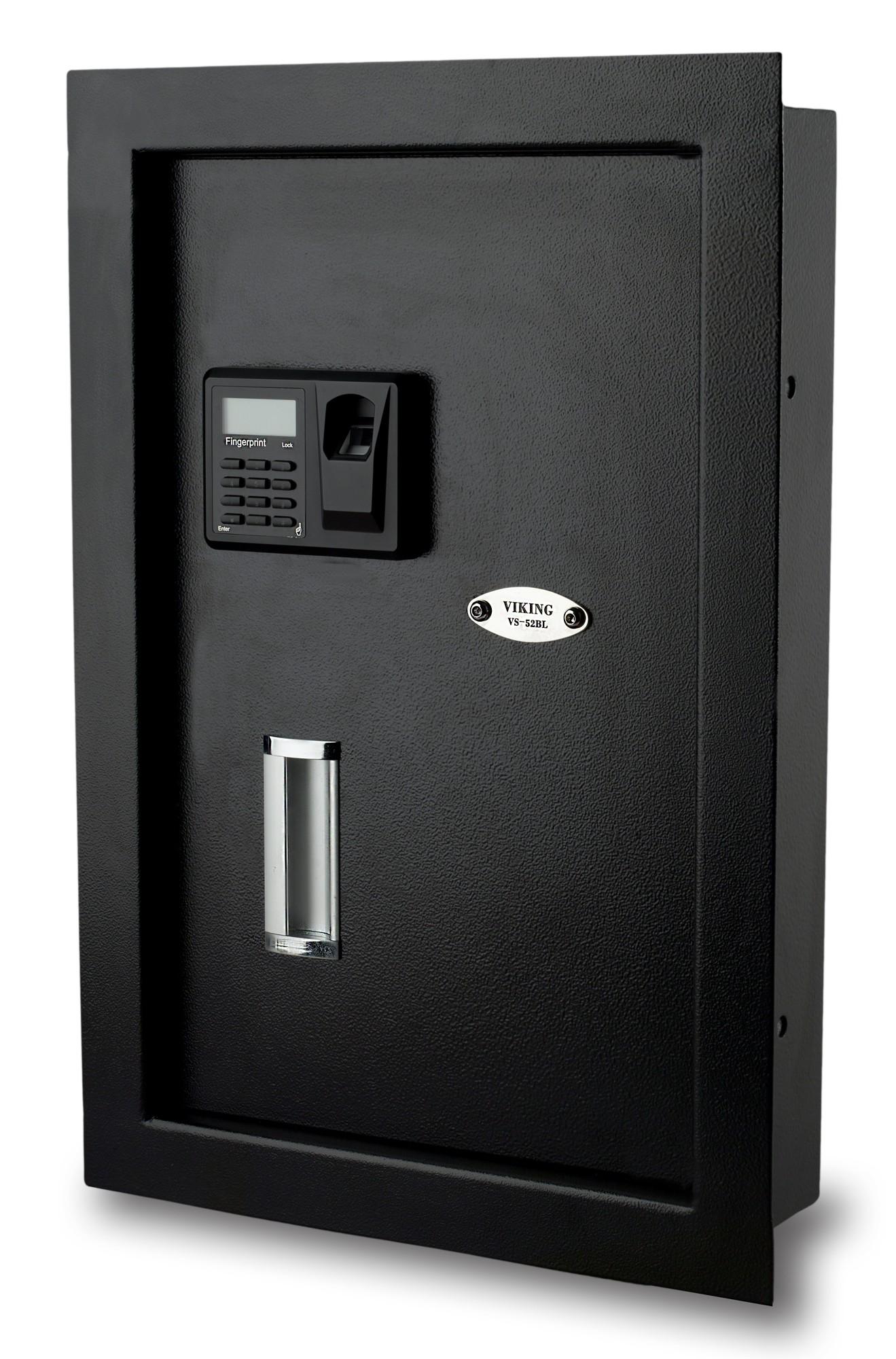 Viking Security Safe VS-52BL Hidden Wall Biometric Fingerprint LCD Keypad Safe