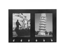 """Barska CB11804 - Two 4""""x6"""" Picture Frame with 6 Position Key Holder"""
