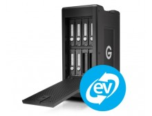 G-Technology G-SPEED Shuttle XL Thunderbolt 3 Transportable 8-Bay RAID with 2 ev Series Bays 24TB