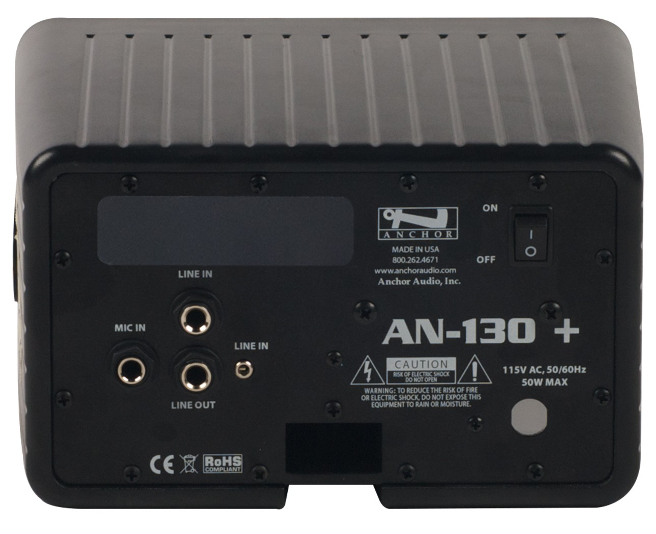 Anchor Audio AN-130RCBK+ AN-130+ with remote control - black