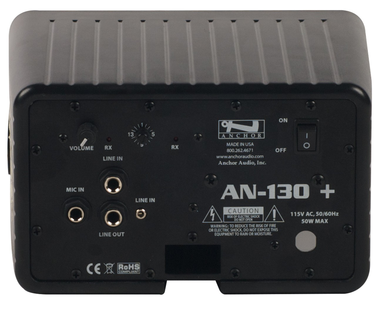 Anchor Audio AN-130F1BK+ AN-130+ with one built-in wireless receiver - black