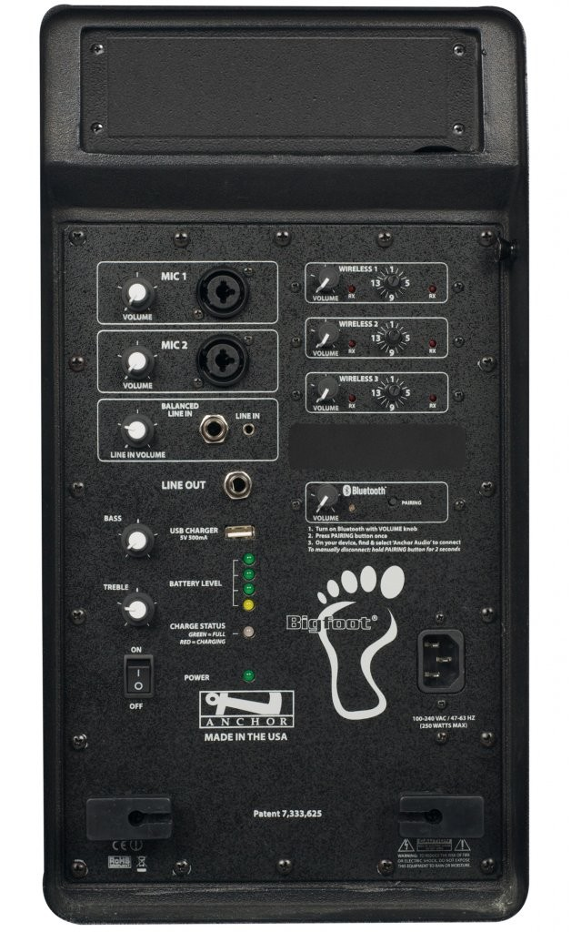 Anchor Audio BIG-8000U3 Bigfoot with Bluetooth & three built-in wireless receivers
