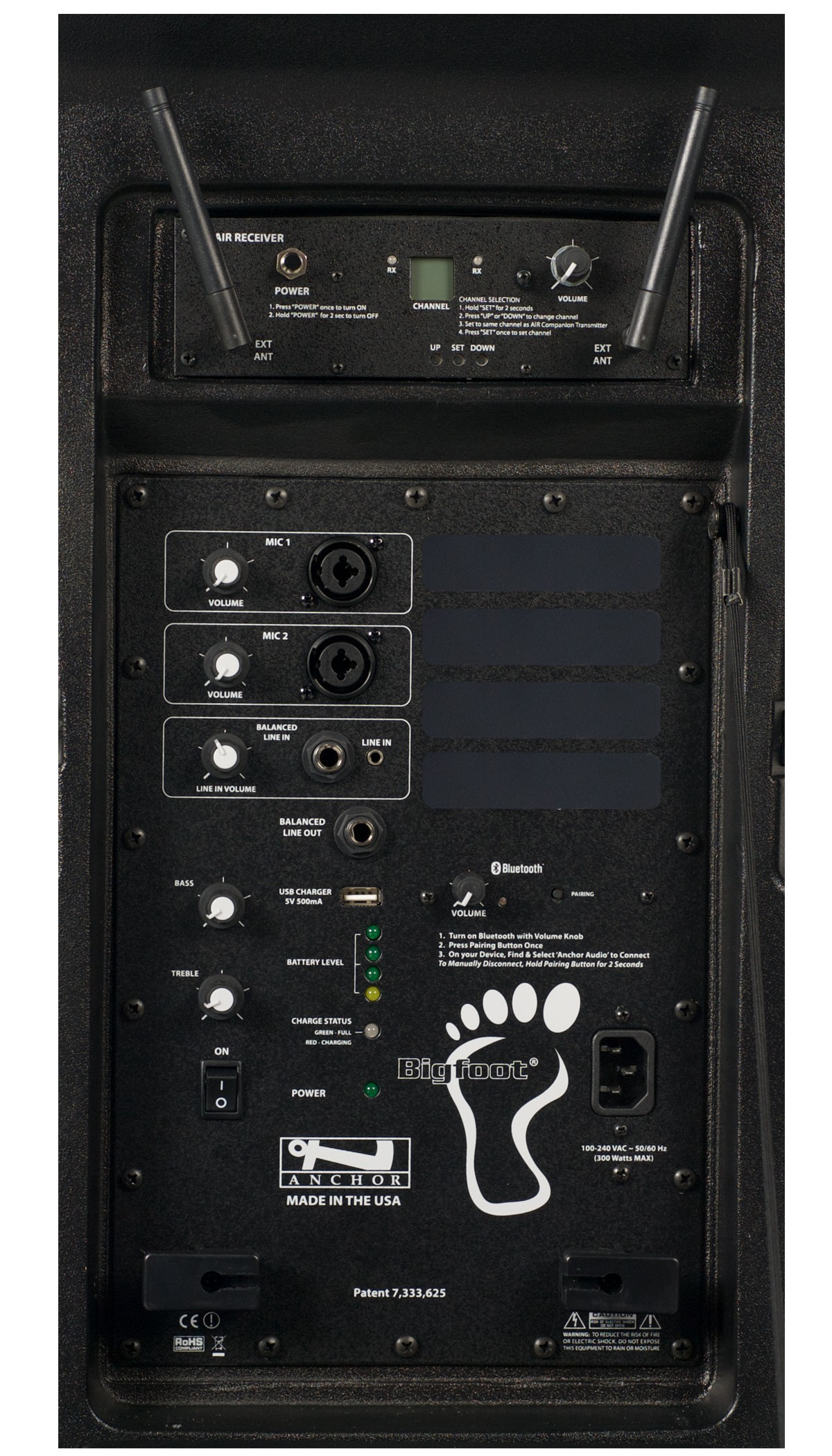 Anchor Audio BIG-8000R Bigfoot with Bluetooth and AIR wireless receiver