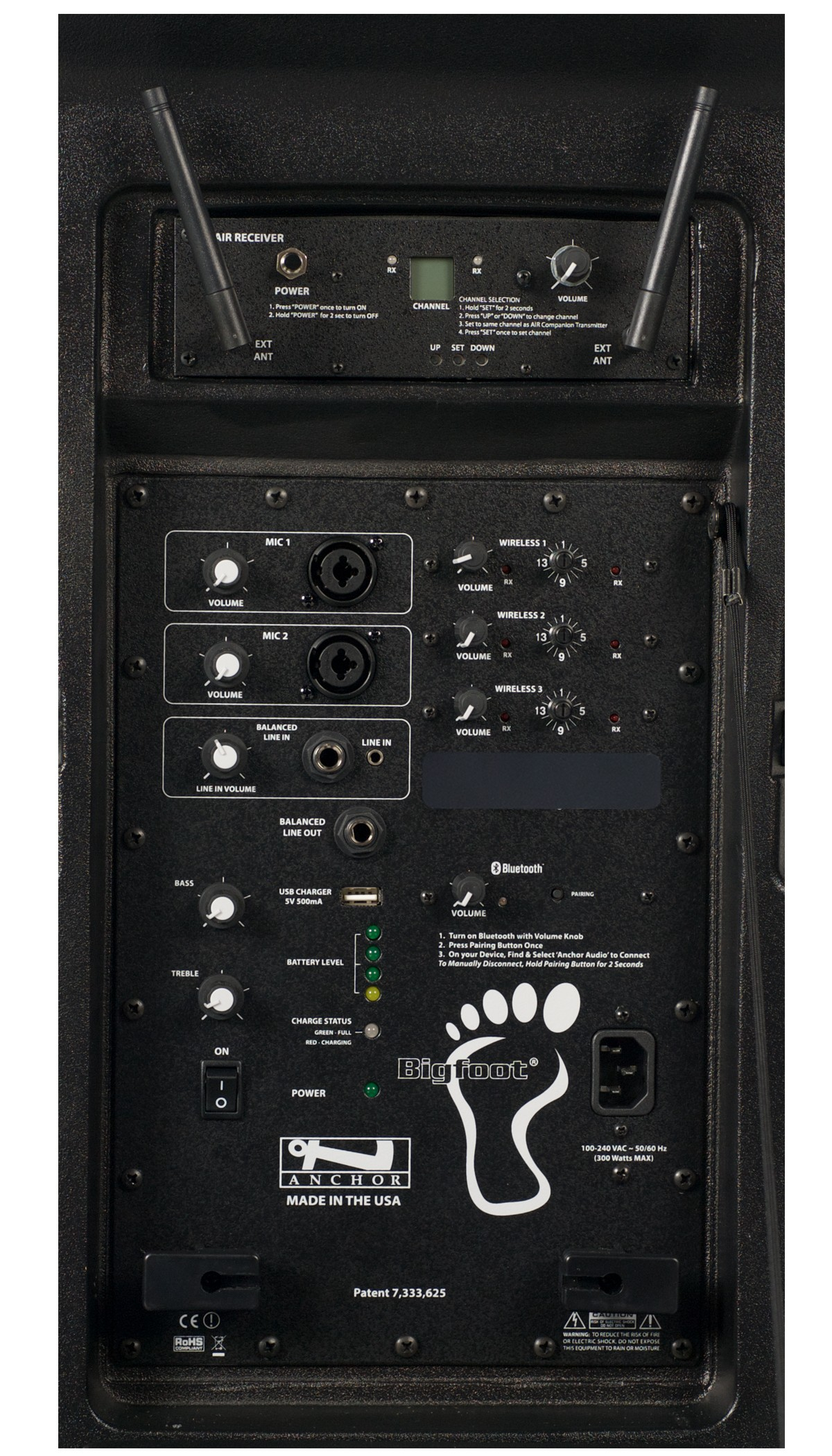 Anchor Audio BIG-8000RU3 Bigfoot with Bluetooth, AIR wireless receiver & three wireless receivers