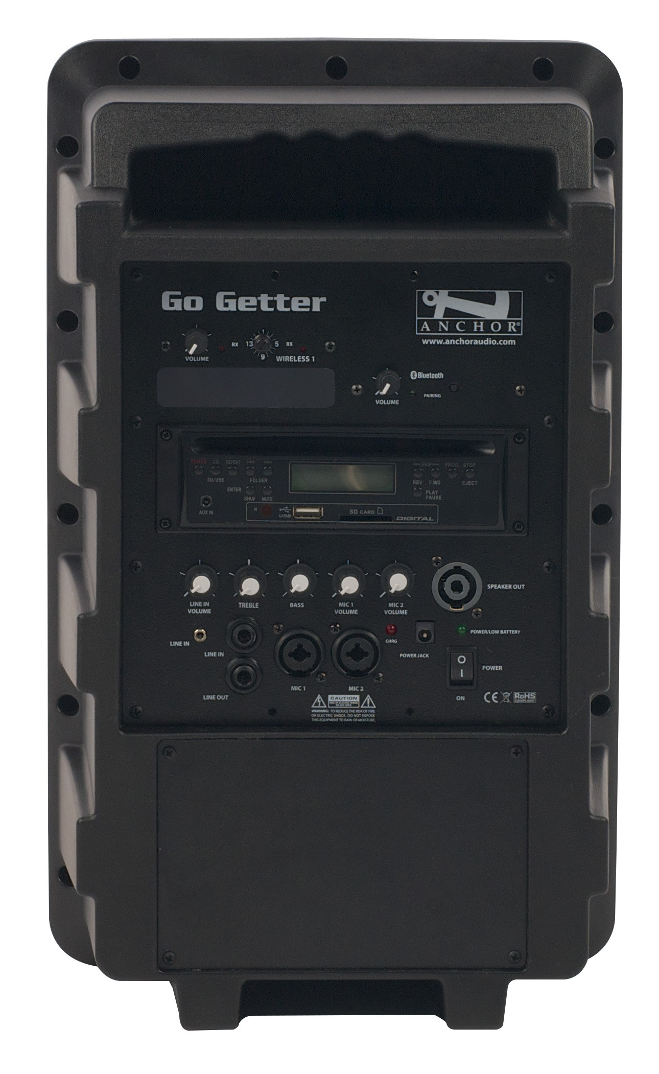 Anchor Audio GG-8000CU1 Go Getter with Bluetooth, CD/MP3 combo player & one wireless receiver