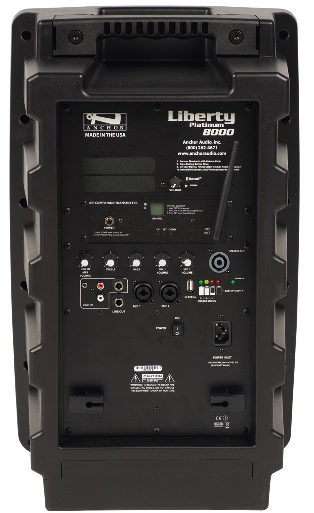 Anchor Audio LIB-8000X Liberty with Bluetooth & AIR wireless companion transmitter