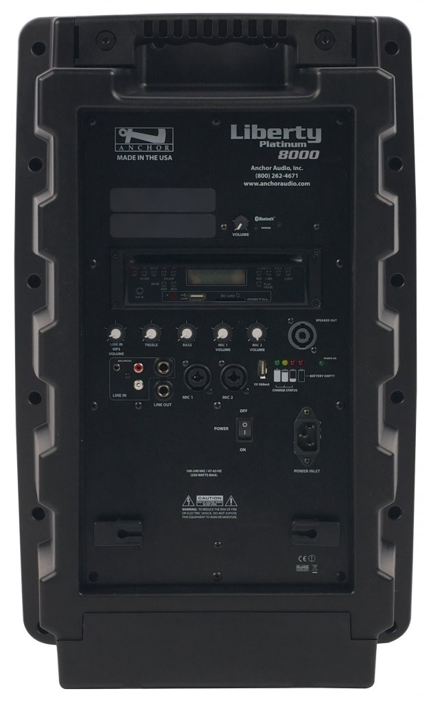 Anchor Audio LIB-8000C Liberty with Bluetooth & CD/MP3 combo player