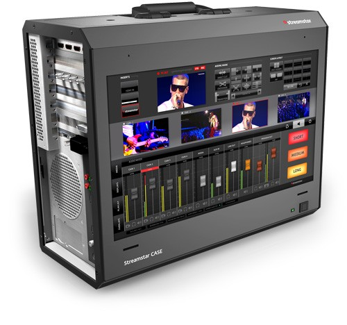 Streamstar CASE 500 - All-In-One, 4 Camera, Portable Live Production and Streaming Studio with Slow Motion and Replays Included