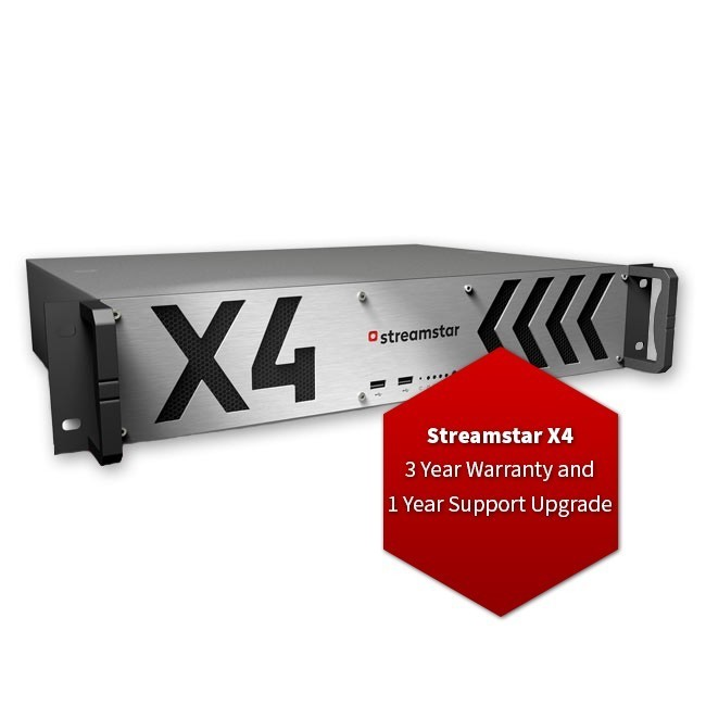 Streamstar X4 - 3 Year Warranty and 1 Year Support Upgrade