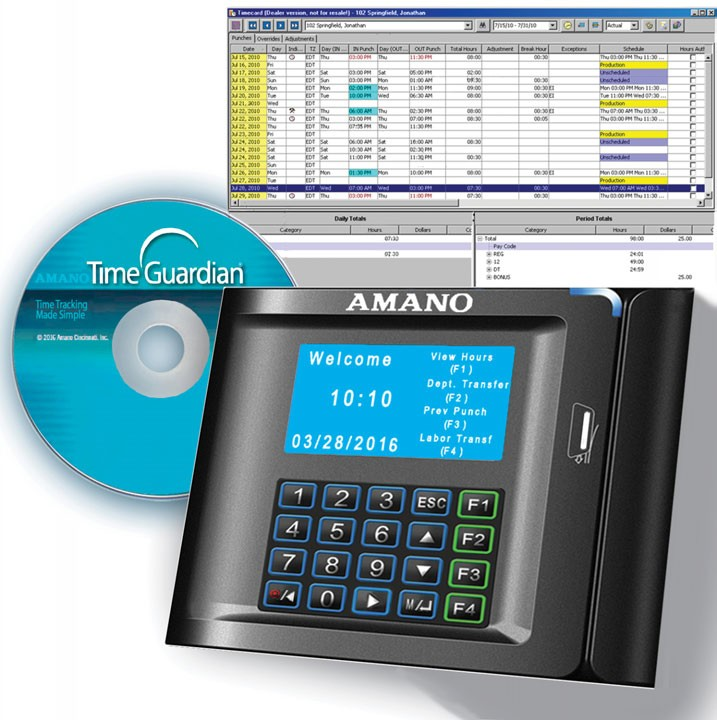 Amano MTX-30M/A971 MTX-30 Magnetic Stripe Time Clock