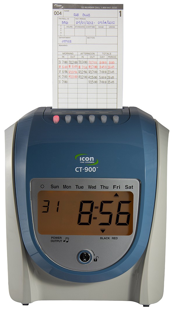 Icon Time CT-900™ Calculating Time Recorder