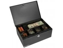 Barska CB11792 - Cash Box and Six Compartment Tray with Key Lock